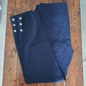 Size 8 - Straight Fit Button Trimmed Pants